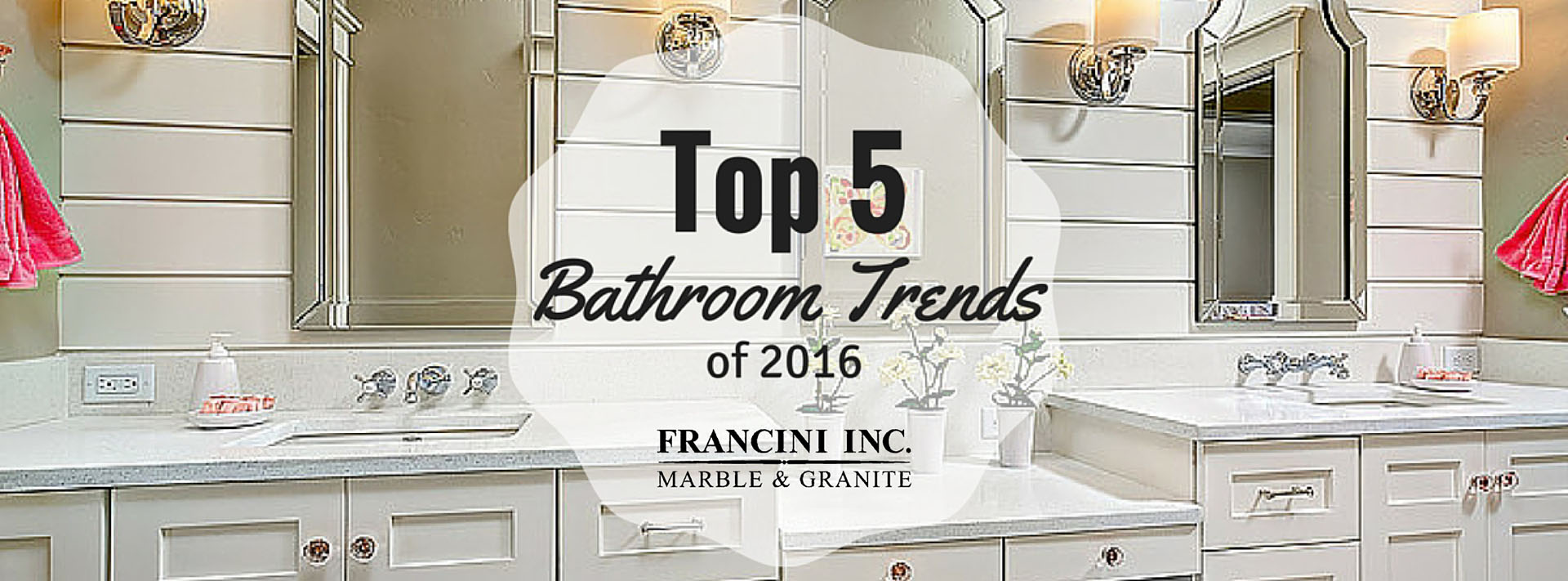 Top 5 Bathroom Trends for 2016