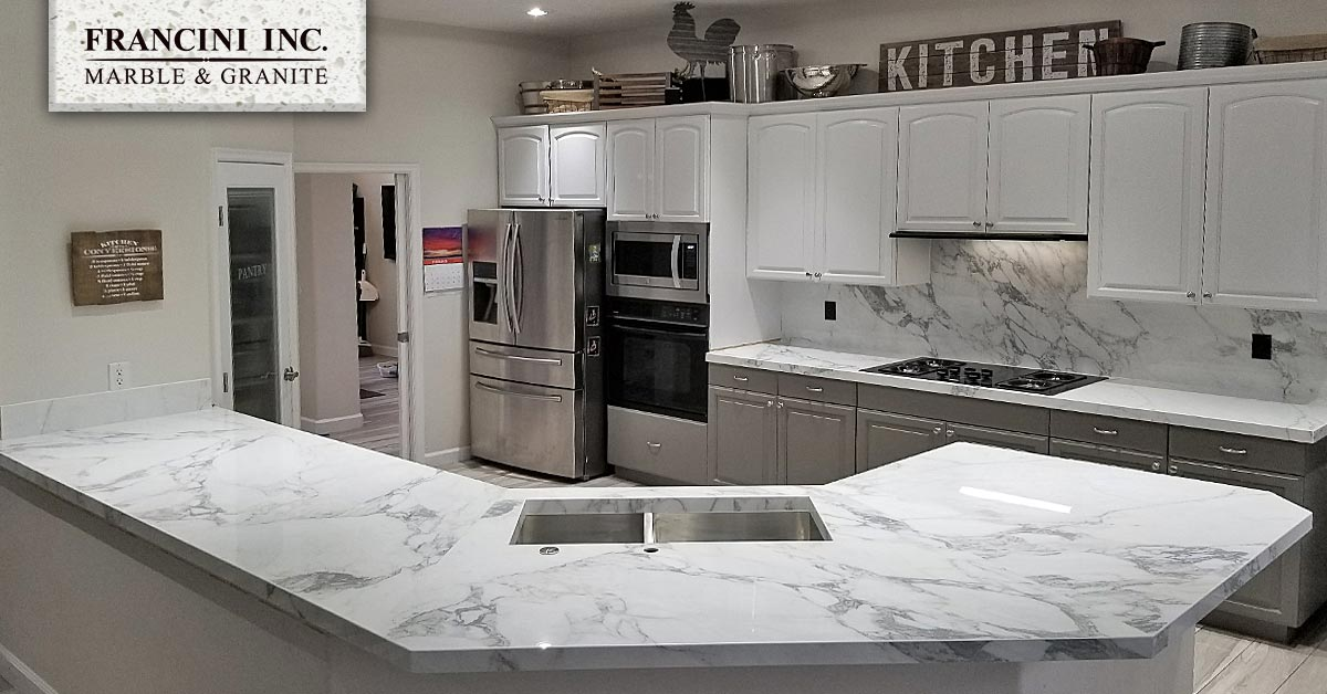 Gorgeous Arabascoto Porcelain Stone Kitchen Remodel
