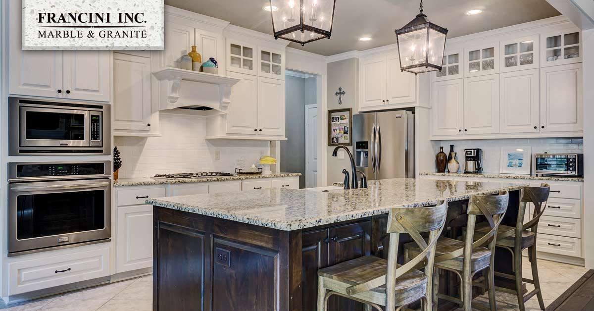 White Cabinets Blend With Any Color, Granite Countertops With White Cabinets